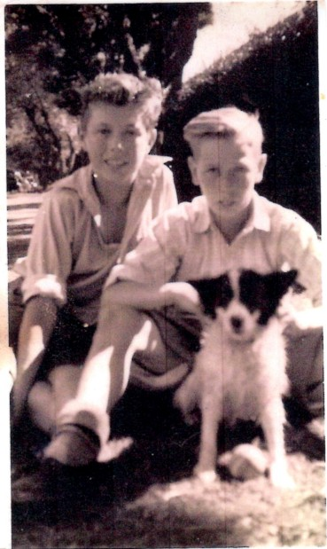 John and Terry as children
